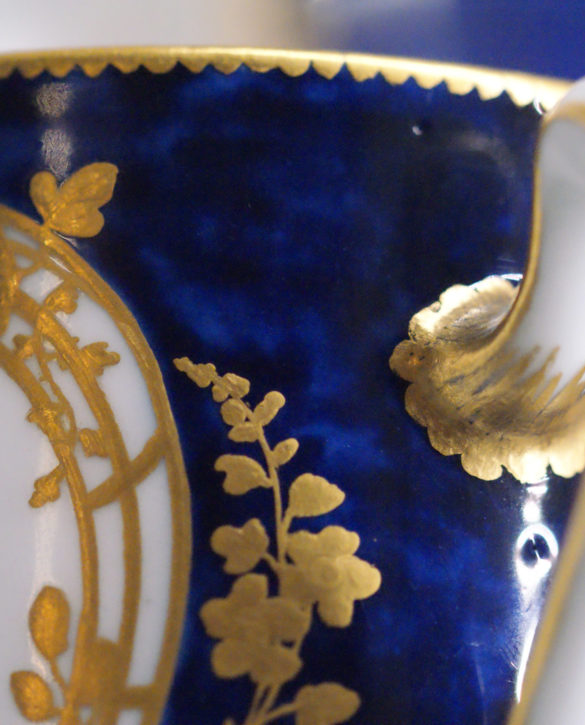 Detail from a Vincennes cup (Gobelet litron), 1754. (Private Collection. Member's photograph)