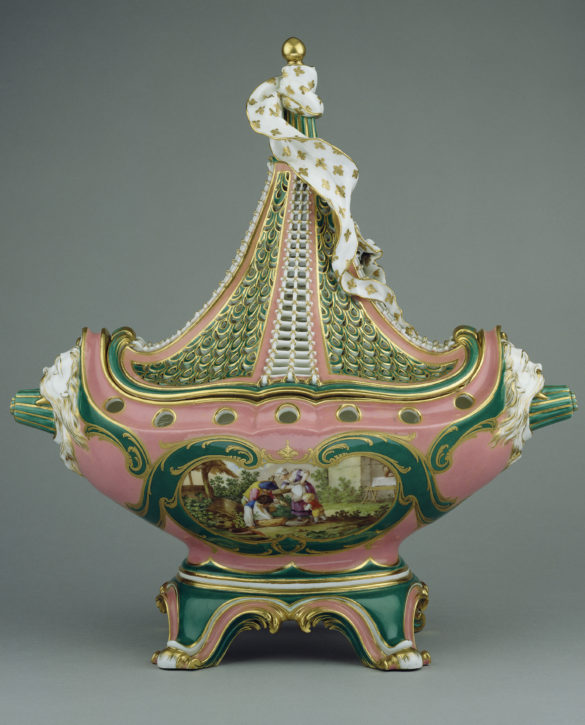 Lidded pot-pourri vase or 'pot-pourri vaisseau à mat', Sèvres, c. 1760. (The J. Paul Getty Museum, Los Angeles, Inv. no. 75.DE.11)
