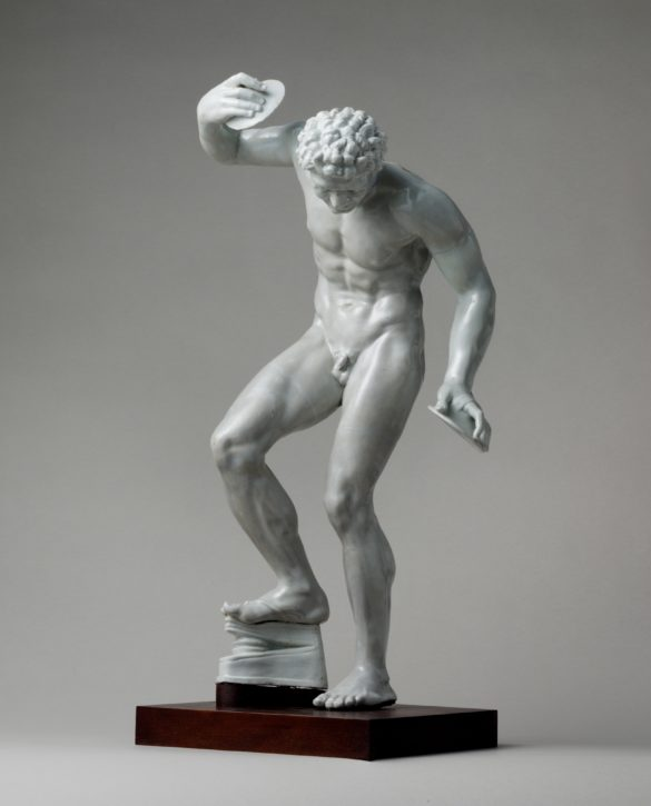 Dancing Faun after the antique, model attributed to Gaspero Bruschi, Doccia, c. 1750. (Metropolitan Museum of Art, Purchase, Anne Eden Woodward Foundation Gift, 1987, Inv. no. 1987.293)