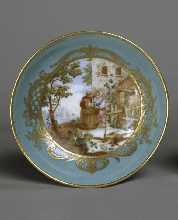 Sèvres saucer with scenes after Teniers, 1761. (© The Wallace Collection, London, Inv. no. C361)