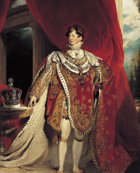 George IV in his Coronation Robes, by Sir Thomas Lawrence, 1821. Oil on canvas. (Royal Collection Trust/ © Her Majesty Queen Elizabeth II 2017, Inv. no. RCIN 405918)