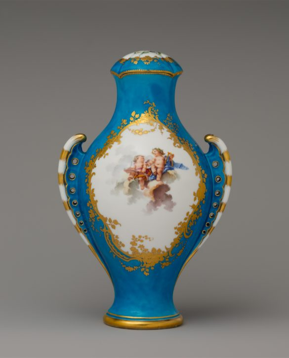Vase 'urne antique', after Jean-Claude Duplessis, Vincennes/Sevres, c. 1755-7. (Metropolitan Museum of Art, Inv. no. 58.75.112a, b)